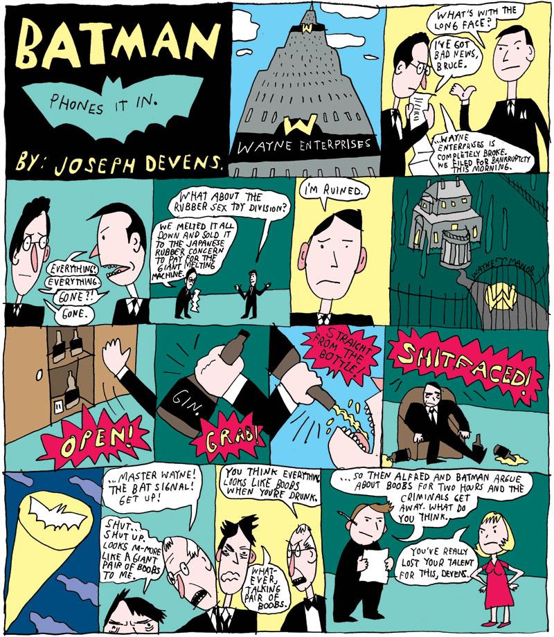 Batman Phones It In