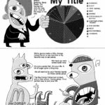 (A caption at the top reads 'The following comic strip has been created using an artificial intelligence.*' A character resembling Joseph Devens but with teeth and features distorted or in the wrong locations is pointing at a pie chart divided into an impossible number of percentages with a giant blurry 'My Title' written above it and a key whose elements read 'Chonchy, Sleep, Dog Vaping, Writ, Draing, Cocoa Reality Butter, Contemplating Peanut, Dog Racing, Weep, Dog Draining, Chonchy,' and a blank space) JOSEPH: Greetings, Joseph Devens! This is a manga artist's greeting, Benz Death. I'm having fun with my trap and I love all the dogs in the sea. (The next panel has horribly distorted versions of Pig and Murphy speaking to each other. Pig has three eyes, three hooves and a hand, and a logo for 'McDong's' on his chest. Next to him float some upside-down dogs standing on two legs. Murphy's mouth is in his torso, and the word 'Press' is written partially backward on his hat and a lone molar floats near his head) PIG: We're gonna make a little change. Candy terror is real and this is my favorite way to eat candy. MURPHY: We have our own sweet tooth here. PIG: It's not a candy fish, it's your life. A lot of sugar goes a long way. MURPHY: We all want to be your friendly hands on these candy glops. PIG: The Big Candy Fisherman is back with a new album. Candy gloop. It's a perfect way to end your life. (Another caption at the bottom reads '*All of this will be extremely offensive to the sentient computer community in about fifty years. We offer our sincerest apologies.')